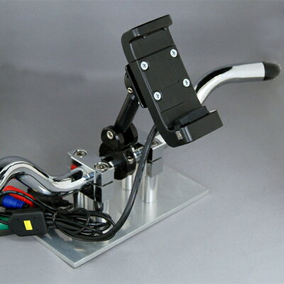 テックマウントZZZ-0256YUPITERUATLASMCN43siバイク用ナビ専用ハンドルマウント