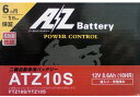 AZ バイク用バッテリー ATZ10-S 液入り充電済み