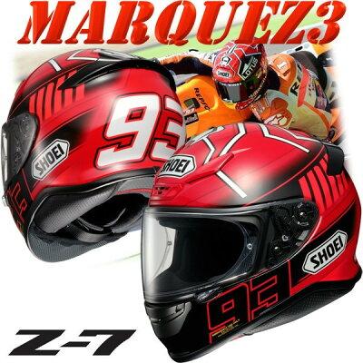 ★送料無料★ショウエイ(SHOEI)Z-7MARQUEZ3マルケス3フルフェイスヘルメットマルク・マルケス選手2015シーズングラフィック仕様レプリカ