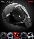★新色ストーンブラック!送料無料★ SIMPSON MODEL30 (M30) 復刻 フルフェイスヘルメット