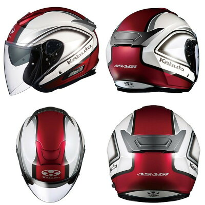 ★送料無料★OGKASAGICLEGANT(アサギクレガント)ジェットヘルメットインナーサンシェード装備オープンフェイス