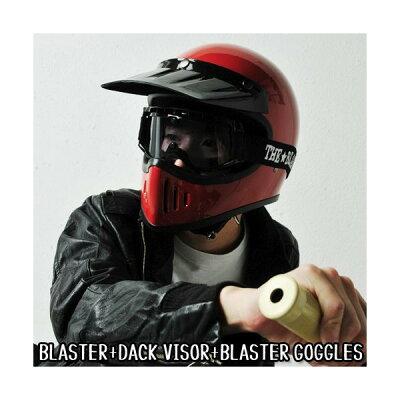【数量限定企画】バイザー(黒)プレゼント中!THEBLASTERザ★ブラスターヘルメットダムトラックスバイク用フルフェイス/オフロード