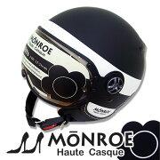 モンロー レディース シールド ジェット ヘルメット ブラック