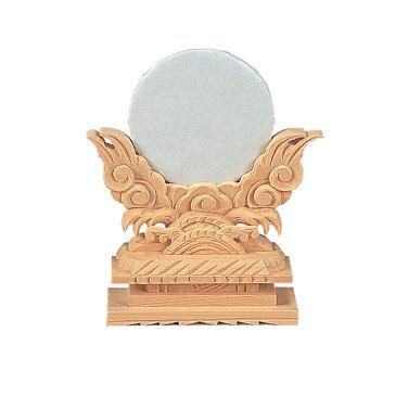 神鏡 上彫 2寸(木曽ひのき)[仏具 お供え物 仏具 仏壇]【メモリアルアートの大野屋】