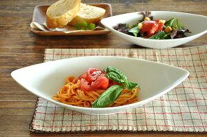 食器 カレー皿 パスタ皿 おしゃれ 美濃焼 ボウル サラダ アウトレット カフェ風 白磁 ポーセラーツ (L)イタリアンリーフディッシュ
