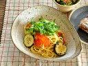 食器 パスタ皿 カレー皿 おしゃれ 和食器 モダン 美濃焼 ボウル アウトレット カフェ風 渕茶うのふ粉引変形多用鉢 2
