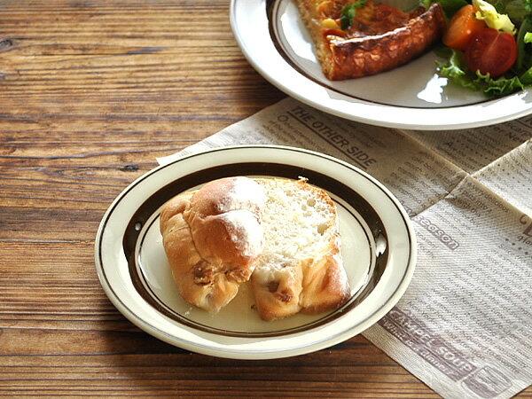 食器 取り皿 おしゃれ 中皿 美濃焼 プレート 丸皿 アウトレット カフェ風 クラシカルブラウンパン皿16.5cm