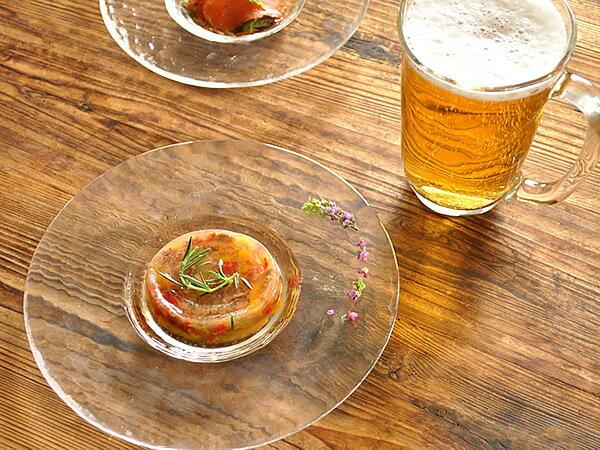 食器 取り皿 おしゃれ 中皿 プレート 丸皿 ガラス アウトレット カフェ風 (CR200 F-49382) (20.0cm)リムレットプレート(クリア)