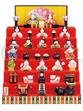 【2523】【2/19入荷】●ひな人形●錦彩花かざり雛(七段飾り)【20%OFF/置物/通販/お雛人形/3月/ひな祭り/桃の節句】