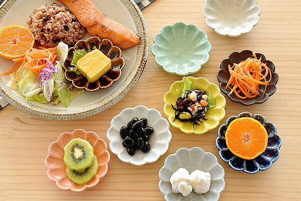 食器小皿おしゃれ和食器モダン美濃焼花型花形薬味皿醤油皿漬物皿アウトレットカフェ風9色菊形小皿(月間セール)