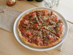 白い食器 とっても使いやすい!お家でピザプレート29.4cm ホワイトレベル2【美濃焼・食器%OF...