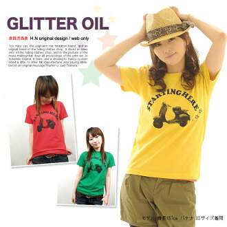 T shirt short-sleeved GLITTER OIL OK ♪ Net Limited Edition T shirt mens Womens XS-XL size 10P13oct13_b