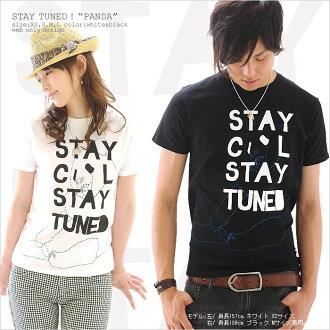 ★ ♪ STAY TUNED PANDA mi-215. ne-sorted limited message T shirt 10P13oct13_b