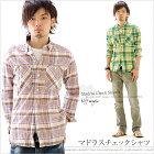 シャツメンズ長袖マドラスチェックシャツ【KRIFFMAYERクリフメイヤー/SH】10P22Apr11