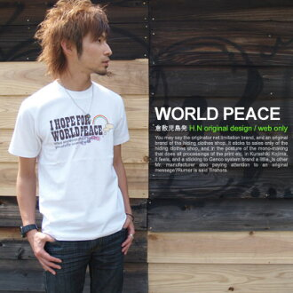 ★ ♪ WORLD PEACE mi-215. ne-sorted limited message T shirt 10P13oct13_b