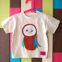 子供服男の子女の子TシャツT-shirtふくろうフクロウかわいい個性的幸福縁起がいいプレゼント出産祝いリンクコーデ90サイズ100サイズ110サイズキッズ ベビー kids baby【owl】