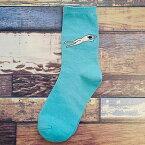 【再入荷】【送料無料】ソックス 靴下 個性的 泳ぐ人 飛ぶ人 お洒落 プレゼント 2足組 2足セット