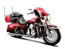 マイスト Maisto 1/12 ハーレー ダビッドソン 赤 Harley Davidson 2013 FLHTK Electra Glide オートバイ Motorcycle バイク Bike Model エレクトラグライド ミニカー モデルバイク スケールモデル プラモデル おもちゃ レッド ブラック 黒