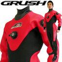 GRUSHドライスーツ メンズ RED [ダイビング用]【送料無料】 【mic-point】...