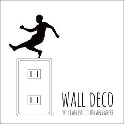 ウォールステッカー WALL DECO サッカー 選手 オフサイド サポーター スイッチ コンセント 小さい 人気 かわいい 面白い シルエット シール DIY デコレーション 転写 インテリア 剥がせる リフォーム アレンジ プレゼント 飾り付け インテリア 子供部屋 壁紙シール MIC