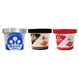 酪王牛乳アイス・酪王カフェオレ・ いちごオレ アイスクリーム 6個セット (各2個) *