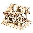 ROKR コースター 水車 コグ 立体パズル 機械模型マニア ギア 手回し 木製