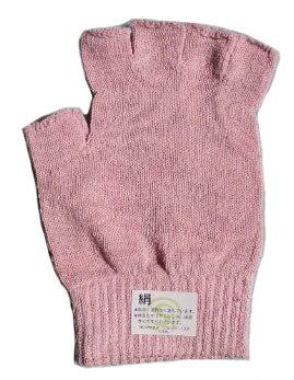 【2枚組】 シルクたっぷり♪シルク手袋   ピンク  【ネコポス対応可】【絹 手袋】【絹製品】