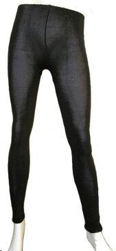 婦人用シルクニット・ロングパンツ(絹80%・日本製) ブラック F(フリー)サイズ (スパッツ/レギンス/タイツ)