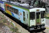 ※新製品 4月発売※ JRキハ110形(200番代・飯山線の四季ラッピング)1両単品(動力付き) 【グリーンマックス・50588】「鉄道模型 Nゲージ GREENMAX」