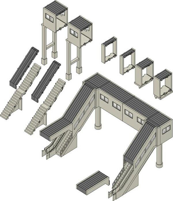※新製品 9月発売※マルチ跨線橋セット【TOMIX・4074】「鉄道模型 Nゲージ トミックス」
