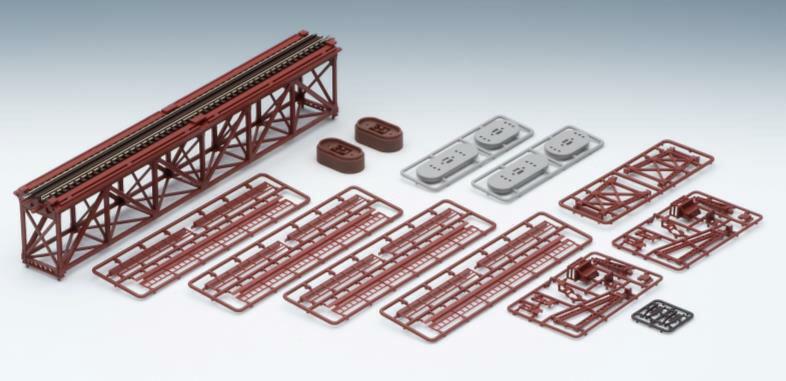 ※新製品 6月発売※上路式単線トラス鉄橋S280(F)(赤)(れんが橋脚 2本付)【TOMIX・3266】「鉄道模型 Nゲージ トミックス」