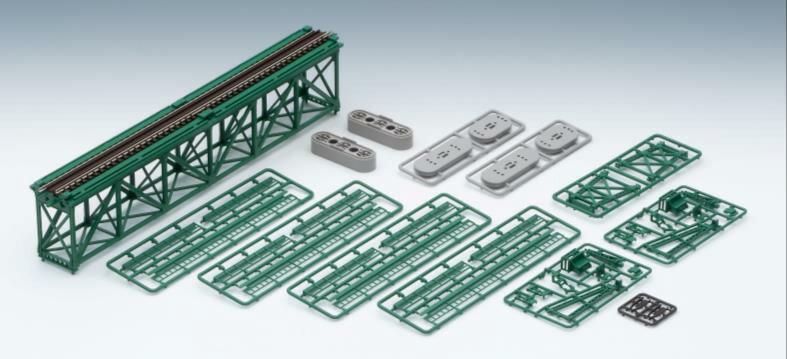 ※新製品 6月発売※上路式単線トラス鉄橋S280(F)(深緑)(PC橋脚 2本付)【TOMIX・3267】「鉄道模型 Nゲージ トミックス」