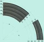単線高架曲線線路R282-45°【KATO・20-510】「鉄道模型 Nゲージ カトー」