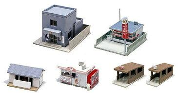 駅前施設セット【KATO・23-417】「鉄道模型 Nゲージ ストラクチャー」