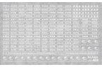 阪急2000〜5000系車輌マークインレタ(白文字)【グリーンマックス・6408】「鉄道模型 Nゲージ オプションパーツ」