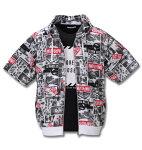 メッシュフォト総柄半袖パーカー+半袖Tシャツ