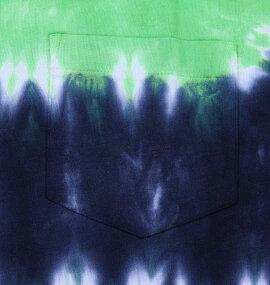 大きいサイズメンズタイダイボーダーポケット付半袖TシャツSHELTY(ネイビー×グリーン)(3L4L5L6L8L)【あす楽対応】