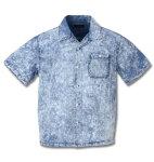 ケミカル半袖オープンシャツ