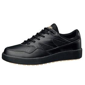 【大サイズ】滑りにくい靴【送料無料】ミドリ安全男女兼用超耐滑軽量作業靴ハイグリップH710Nオールブラック大