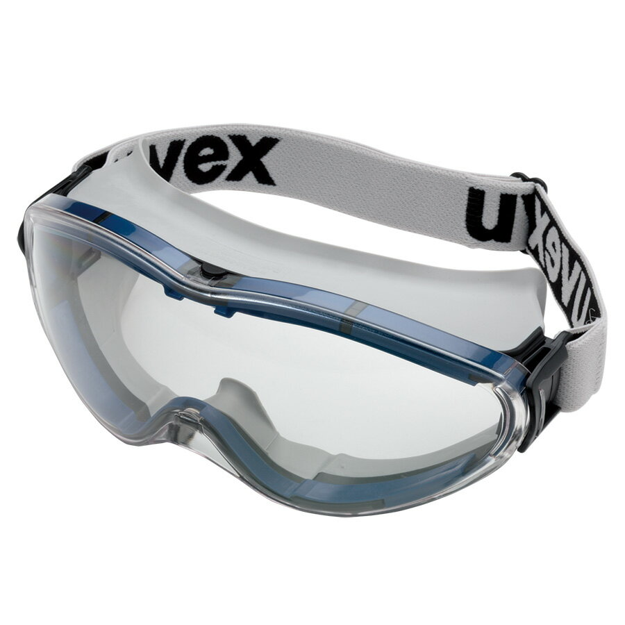 【花粉対策にも】 保護めがね [ウベックス] uvex ultrasonic 軽量 ゴーグル 粉塵対策・液体飛沫に最適 無気孔 UVカット X9302SG