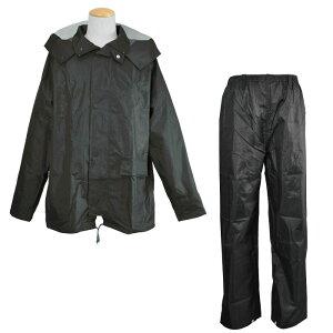 レインウェア  [コヤナギ] 耐水圧:20000mm 《総裏メッシュ/二重袖/反射ライン》 ワークレイン カッパ 合羽 雨衣 M−100 ブラック [梅雨 ゴルフ 自転車 おすすめ 上下組]
