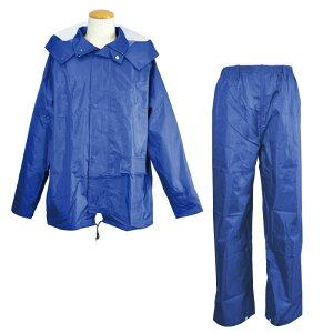 レインウェア  [コヤナギ] 耐水圧:20000mm 《総裏メッシュ/二重袖/反射ライン》 ワークレイン カッパ 合羽 雨衣 M−100 ブルー [梅雨 ゴルフ 自転車 おすすめ 上下組]