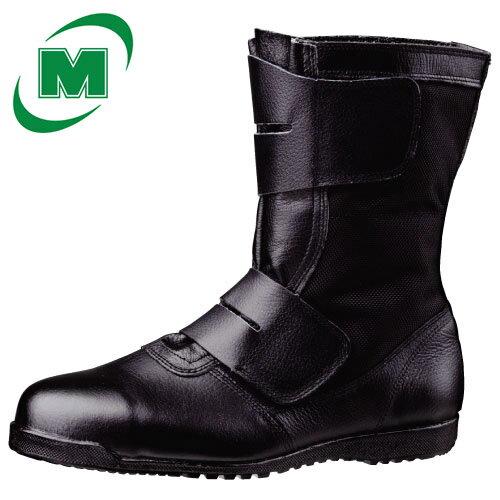 高所作業用鋼製先芯ラバー1層底 安全靴長編上靴CT515マジック ブラック 日本製