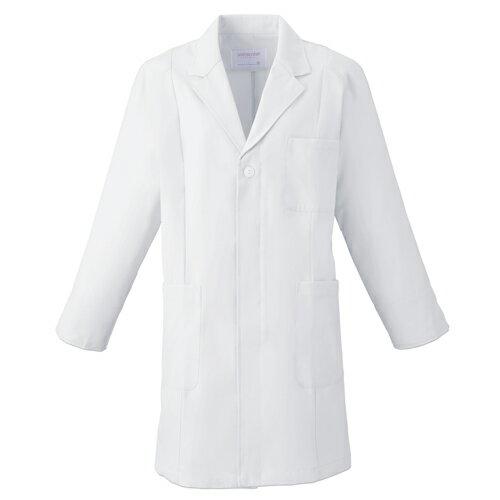 メンズ ハーフコート [フォーク] FOLK 【腕の上げ下ろし快適/ゆとりのある袖ぐり・ラグラン風】 白衣 診察衣 薬局衣 クリニック 1520 ホワイト M~BL 仕事着