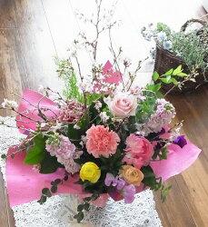 【送料無料】ふーんわりピンク♪「桜」♪アレンジ**5000**お届けは4月12日まで