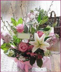 【送料無料】♪「桜」♪アレンジ*焼き菓子のプレゼント付きお届けは4月12日まで