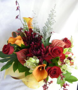 【送料無料】【画像配信OK】季節の1番輝いているお花でアレンジを【楽ギフ_メッセ入力】