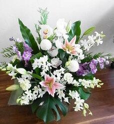 お供えに・お急ぎのときには【即日発送】お任せのお花でアレンジをお花の画像をメールでお届けします命日枕花などに