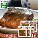 【メール便送料無料】国産さば使用 さばの味噌煮×6袋まとめ買いセット 小袖屋