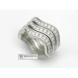 [Midoriya pawn shop] Cartier Neptune Ring with 3 diamonds K18WG Price 1 million yen [Used]